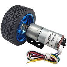 Mini DC Encoder Geared Motor 12V High Speed 17 To 1930RPM In