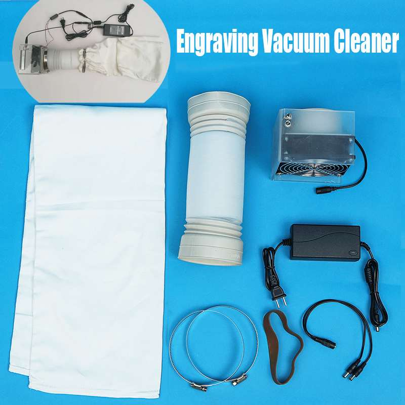 12V Engraving Vacuum Cleaner For Wood Carving Machine Clean ,  190CFM Fan Workbench Carpenter Carving Woodworking Tools Parts