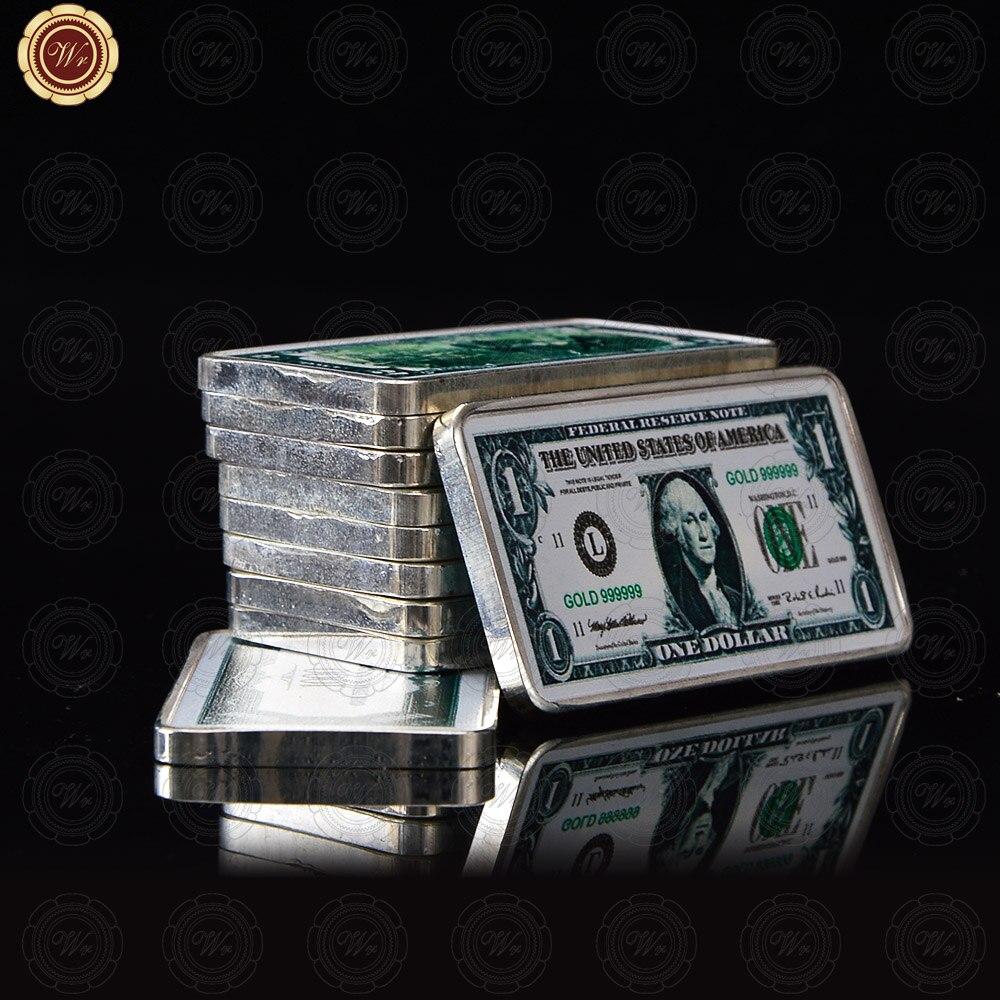 WR Silber Münzen Sammlerstücke USA Dollar Herausforderung Bullion Münzen Original Präsident Gedenkmünze Geschenk für Männer Dropshipping