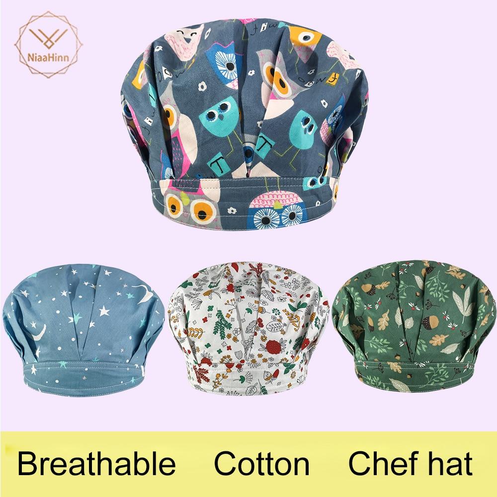 New Arrival Hotel Kitchen Cook Cap Chef Hat Women Men Dustproof Cooking Cap Work Hotel Waiter Hats Cooking BBQ Mushroom Caps