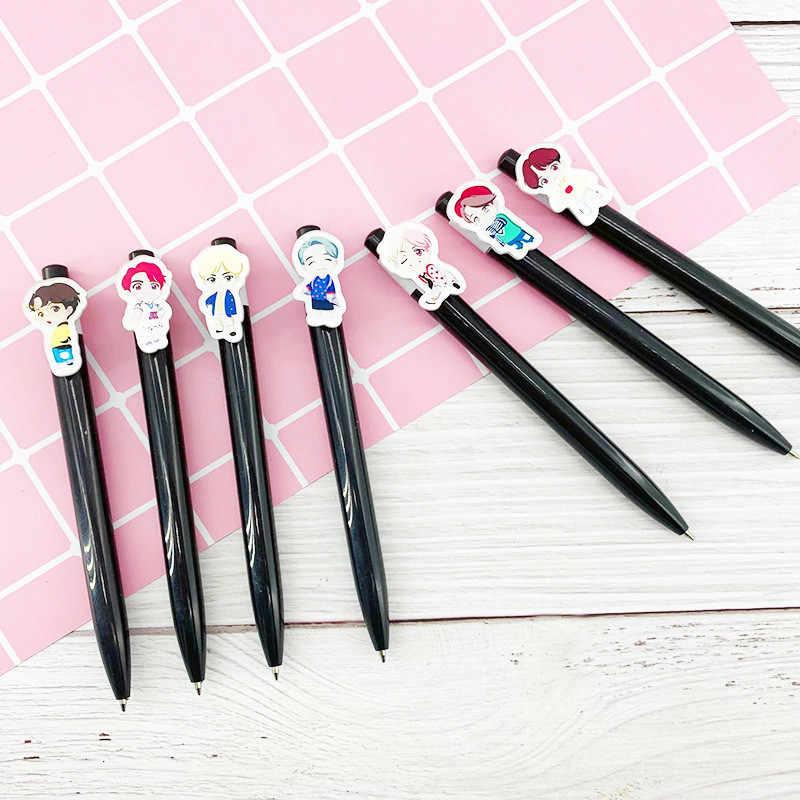 Kpop House Of Bangtan Boys JK kulkowe długopisy Kawaii czarny tusz długopis Pilot długopis na przybory do pisania w szkole papiernicze