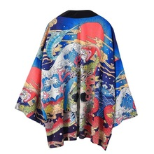 Kimono Jacket Mens Shirt Yukata Haori Samurai New Japanese Cardigan Men Male Costume Clothing