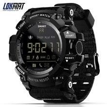LOKMAT MK16 Smart Uhr Männer Frauen Uhr EL Leucht Sport BT Smartwatch Aktivität Fitness Tracker Armbanduhr für Android / iOS