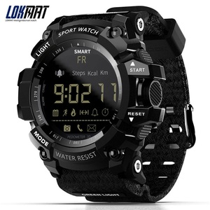 Image 1 - Lokmat mk16 relógio smartwatch unissex, relógio inteligente, el luminoso, esportivo, bt, monitoramento de atividades esportivas, para android/ios