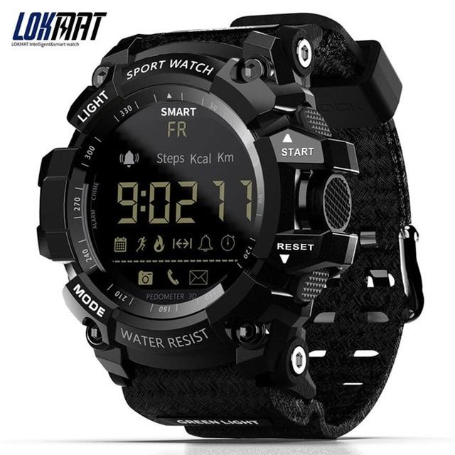 Lokmat mk16 relógio smartwatch unissex, relógio inteligente, el luminoso, esportivo, bt, monitoramento de atividades esportivas, para android/ios