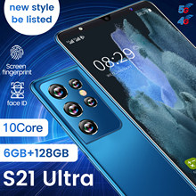 2021New Global Version S21 Ultra Smartphone 8+256GB 5.0Inch 5000mAh Dual SIM Dual Standby Support Face ID 4G Android CellPhone