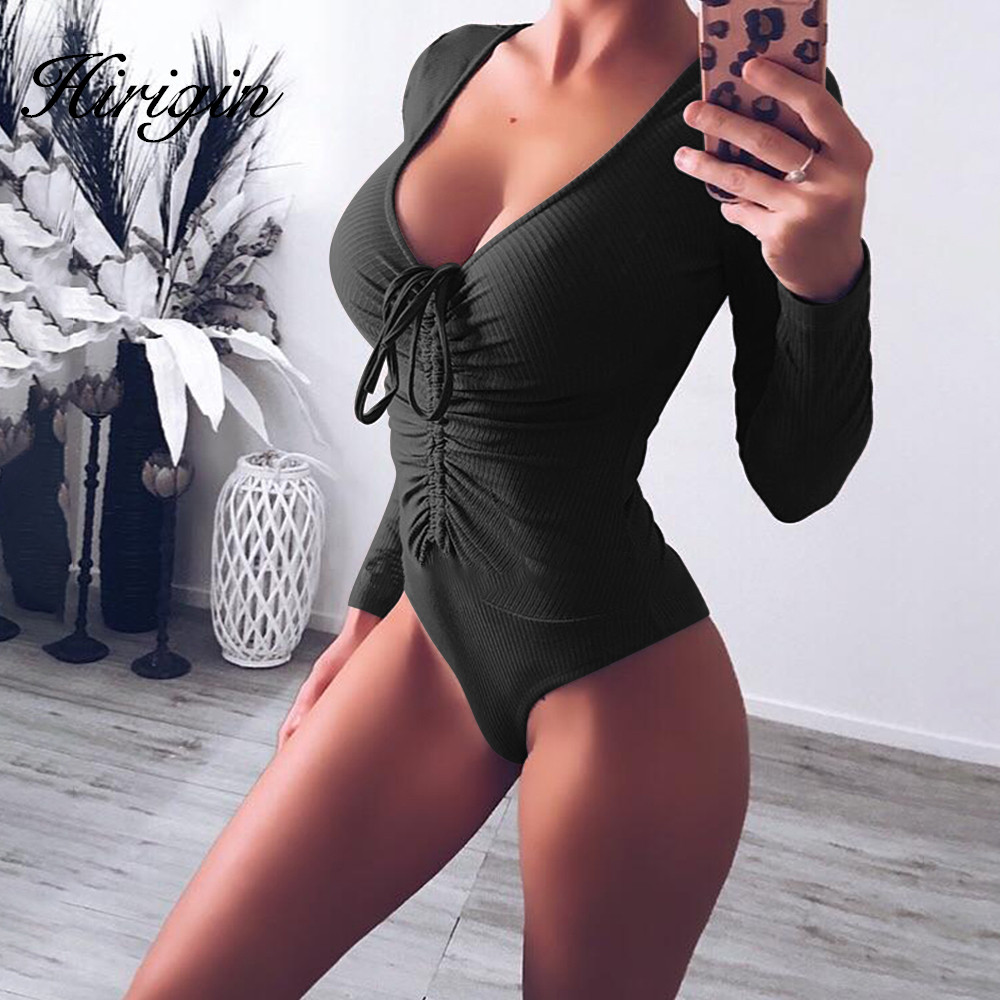 long sleeve women bodysuit turtleneck sexy solid 2019 autumn winter female warm clothes slim fit fashion body suit