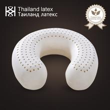 Thailand Natural Latex U Shaped Travel Neck Pillow Support Cushion Memory Foam Head Airplane Sleeping Orthopedic Cervical Pillow tanie tanio TAIMELIY Dekoracyjne BODY Podróży Masaż 300tc Stałe 100 bawełna Pamięci Antystatyczna Klasa a LP-2 W kształcie litery u