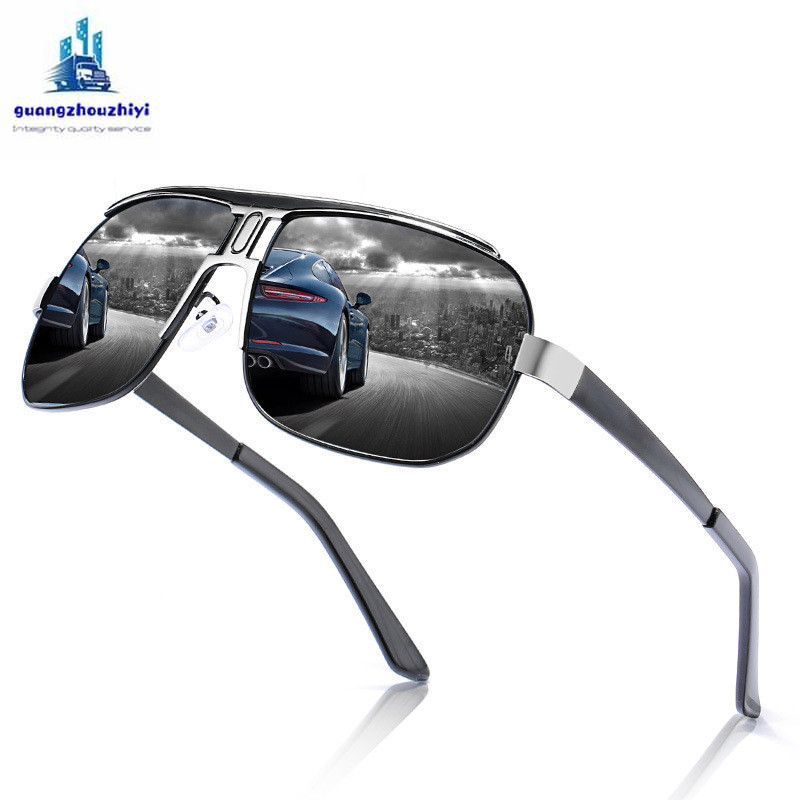 Image 2 - Anti Glare goggle driving glasses polarized men's driver glasses Anti UV oculos outdoor cycling sports sunglasses-in Driver Goggles from Automobiles & Motorcycles