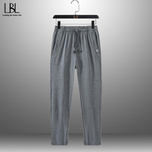 Trousers Men Pant Long Male Men's Casual Pencil Sports Spring Lightweight Plus-Size Solid