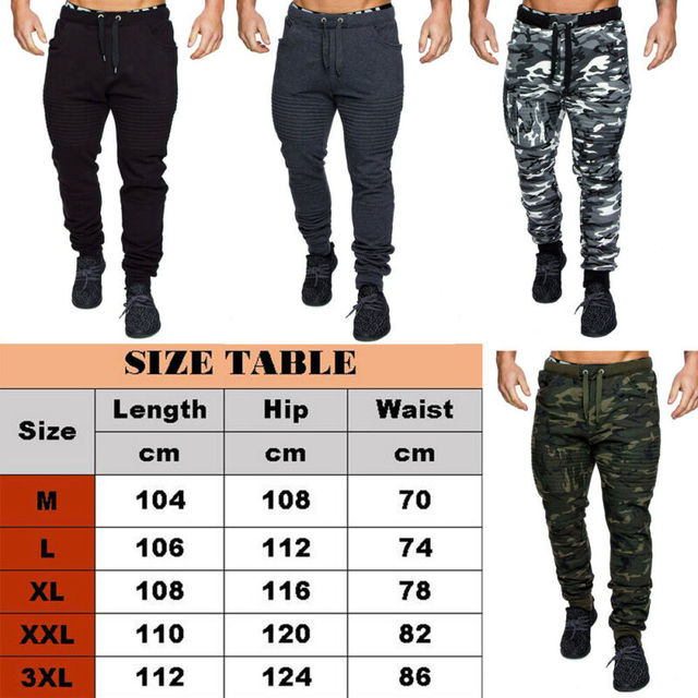 NEW Men's Military Army Sweat Pants Casual Camo Work Outdoor Zip Fly Cargo Pants Camouflage pants 3
