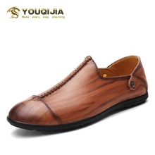 Men Casual Shoes Fashion Soft Genuine Leather Light Driving Loafers High Quality Brand Shoes Trend British Style 2020 Hot Sale 2017 new british style men casual soft genuine leather shoes canvas leisure fashion famous brand high quality black brown red