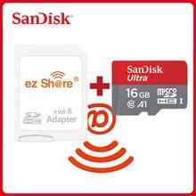 Ezshare-adaptador wifi inalámbrico Sandisk Ultra, 16gb, 32gb, Clase 10, microsd, tarjeta TF inalámbrica, 64gb, 128GB