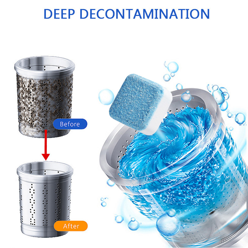 Washing Machine Cleaner Washing Machine Tank Deep Cleaning Remover Deodorant Detergent Effervescent Tablet Home Cleaning Tools
