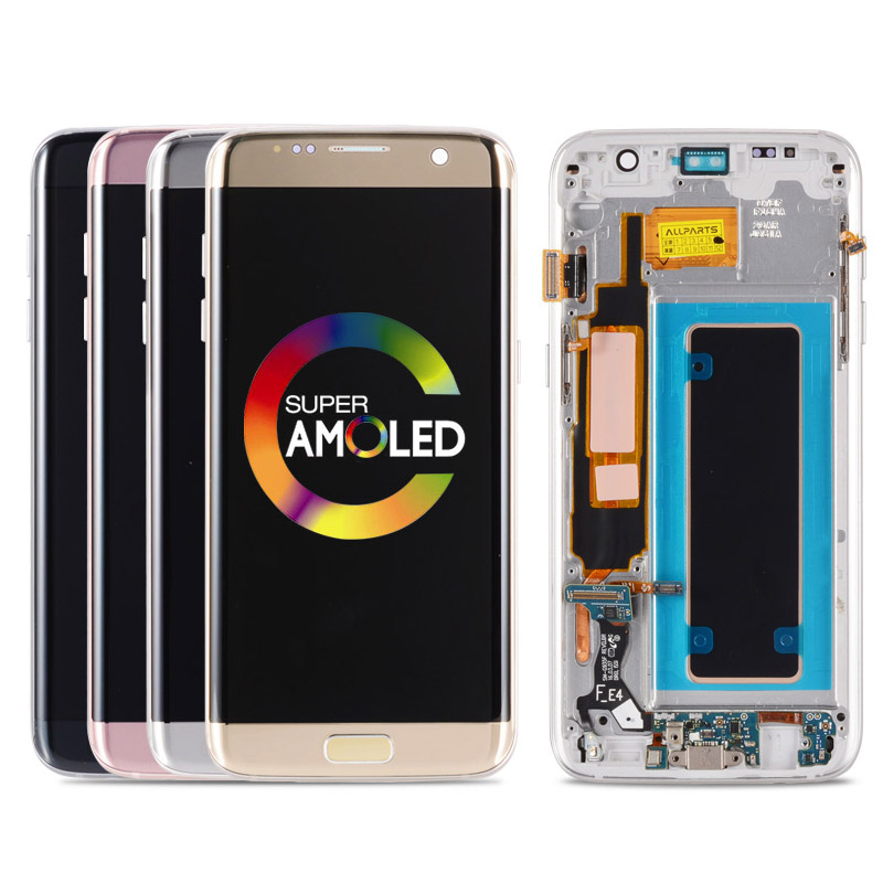 Digitizer LCD Screen G935F AMOLED Original Display For Samsung Galaxy S7 Edge G935 With Frame For Samsung Galaxy S7 Edge image