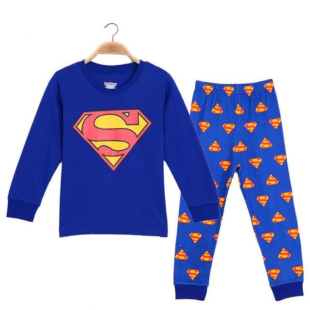2020-Girl-boy-cotton-Pajamas-sets-cartoon-Superman-Spider-Man-toddler-sleepwear-superhero-pijamas-baby-Pyjamas (4)