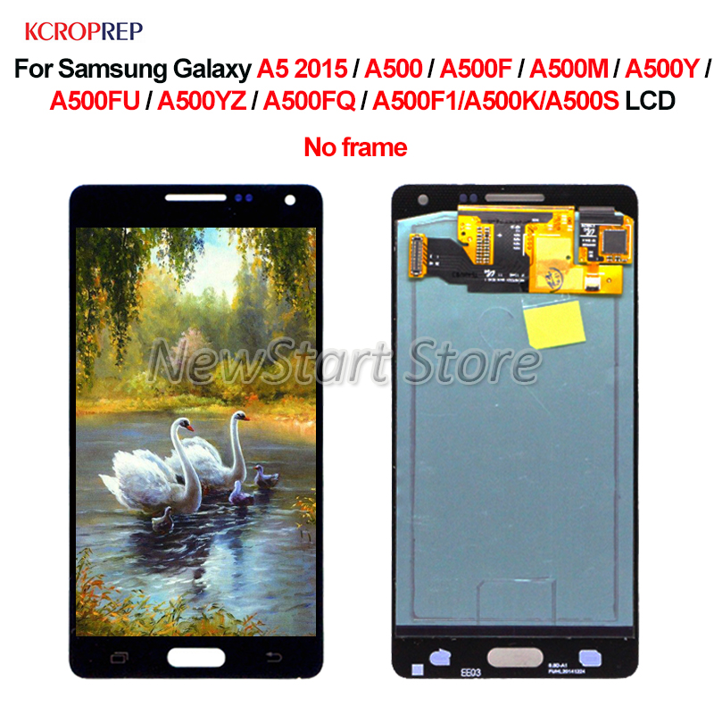 For <font><b>Samsung</b></font> Galaxy A5 2015 <font><b>A500</b></font> <font><b>LCD</b></font> Display Touch Screen Digitizer Assembly For <font><b>Samsung</b></font> Galaxy A500F A500M A500Y <font><b>lcd</b></font> Replacement image