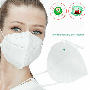 1PC Disposable Face Mouth Mask Anti Dust Personal Protective Earloop 3Ply Rubber Band Disposable Anti-Bacteria EarLoop Wholesale