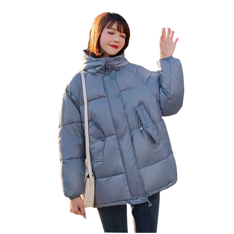 bf short Hooded Winter Down Coat Jacket Thick Warm Casaco Feminino Abrigos Mujer Invierno Cotton padded Wadded Parkas 18