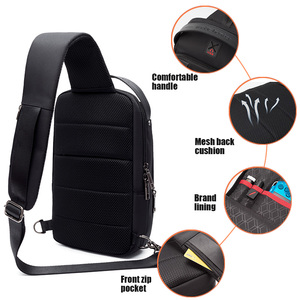 Image 4 - ARCTIC HUNTER 2019 USB Waterproof Men Chest Bag Male Leisure Messenger Shoulder Bag Crossbody Bolsas For Teenagers Travel