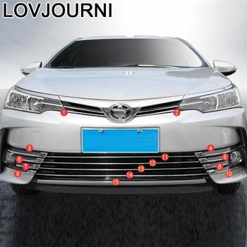 Parts Front Rear Bumper Grille Exterior Decorative Auto Modified Car Styling Sticker Strip Accessory 17 18 FOR Toyota Corolla