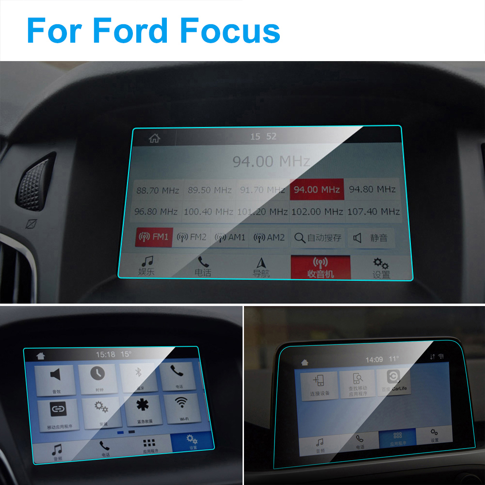 TPU Car Screen Protector For Ford Focus 3 4 MK3 MK4 GPS Navigation Anti-glare Screen TPU Auto Protective Film Car Accessories