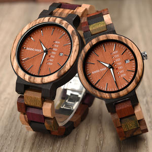Clock Watches Couple Wooden DEER Quartz DODO Movement Male A22-5 Multifunction