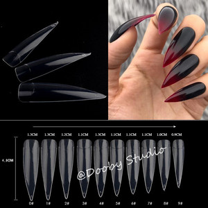 Nail Tips 500 pcs stiletto clear Tipsy nagellak Display Capsule Ongle Transparent Acrylic Faux Ongles For Nail Art Manicure