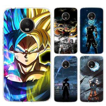 Goku de Dragon Ball Super a la moda de parachoques suave de cómic para Motorola MOTO G7 G6 G5S G5 E6 E4 E5 Plus G7 power G4 Play