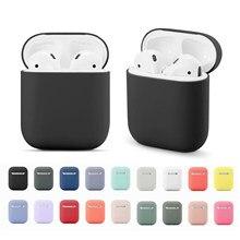 Étui Airpods 1/2 en Silicone souple, housse de protection pour écouteurs sans fil Bluetooth Apple, boîte de chargement