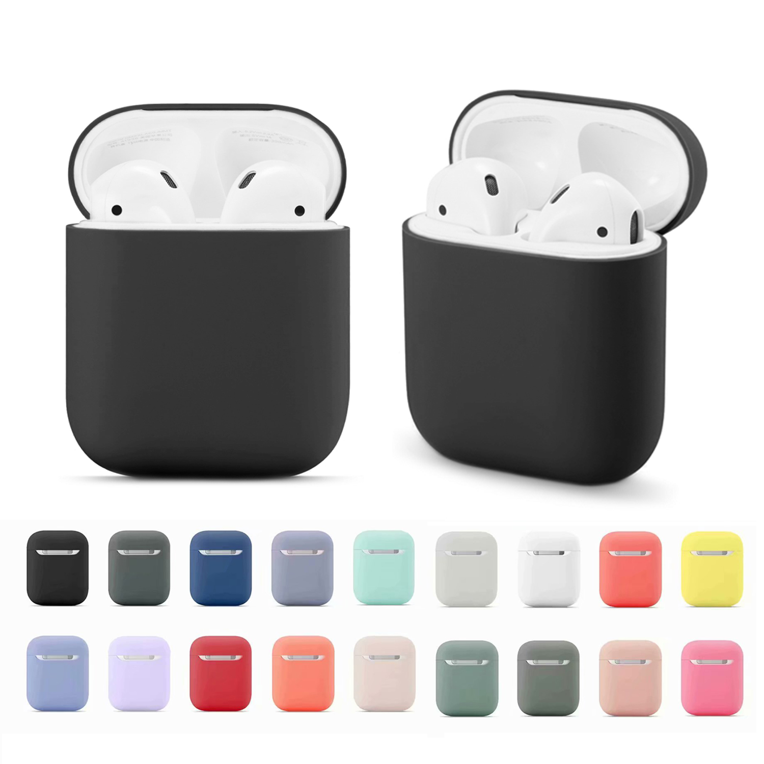 Soft Silicone Cases For Apple Airpods <font><b>1</b></font>/2 Protective Bluetooth Wireless Earphone Cover For Apple <font><b>Air</b></font> <font><b>Pods</b></font> Charging Box Bags image