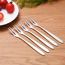 6-12pcs Stainless Steel Fruit Fork West Tableware Sign Small Cake Dessert Kitchen Tools Accessories