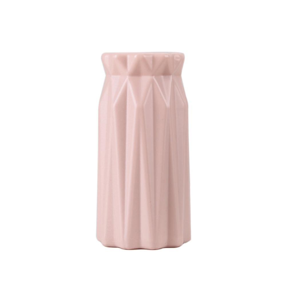 Скандинавском стиле Цветочная корзина ваза для цветов и рисунком в виде птичек-оригами Пластик ваза мини бутылка имитация Керамика украшение цветочный горшок для дома - Цвет: RL1264B