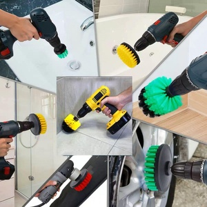 Image 3 - Hnyri Nylon Boor Borstels 2/3.5/4 Sofa Keuken Badkamer Scrubber Lederen Plastic Banden Auto Auto Care Meubels Cleaner Gereedschap