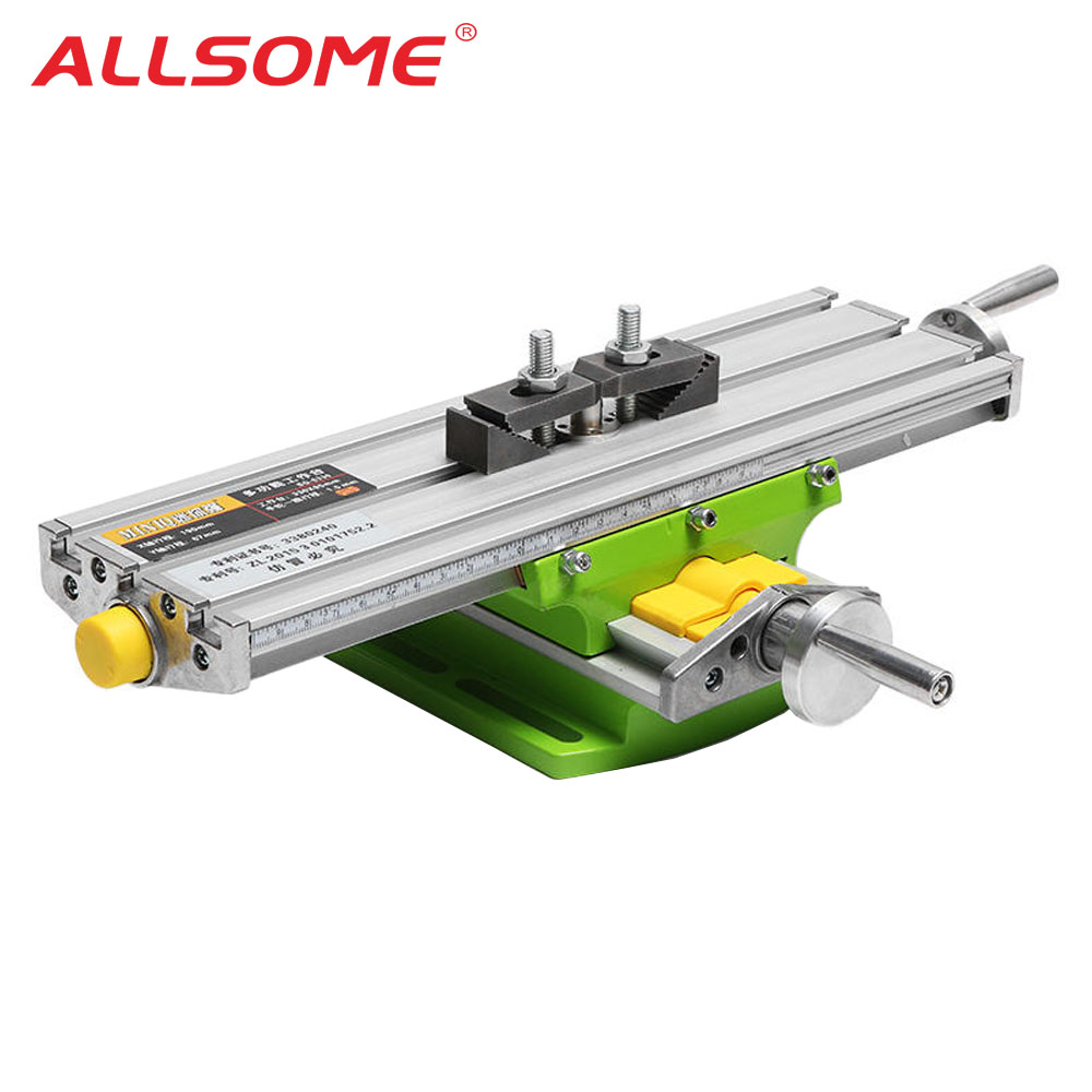 ALLSOME MINIQ BG6330 Mini Precision Milling Machine Worktable Multifunction Drill Vise Fixture Working Table HT2829
