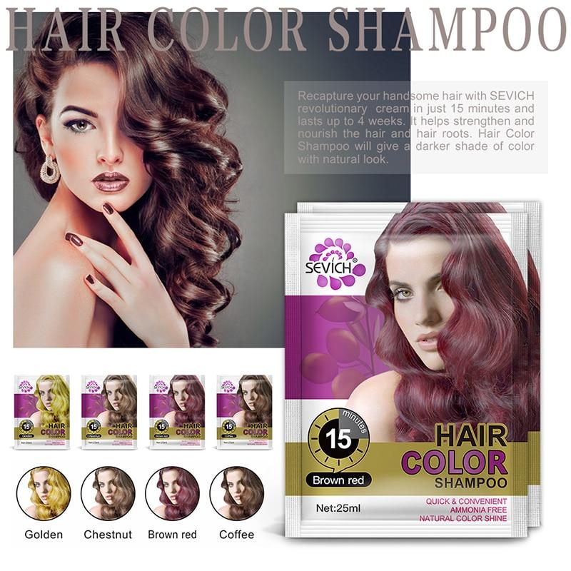 Sevich 25ml Hair Color Shampoo Only 15 Mins Hair Dye Shampoo For Woman Short Period Hair Color Dye