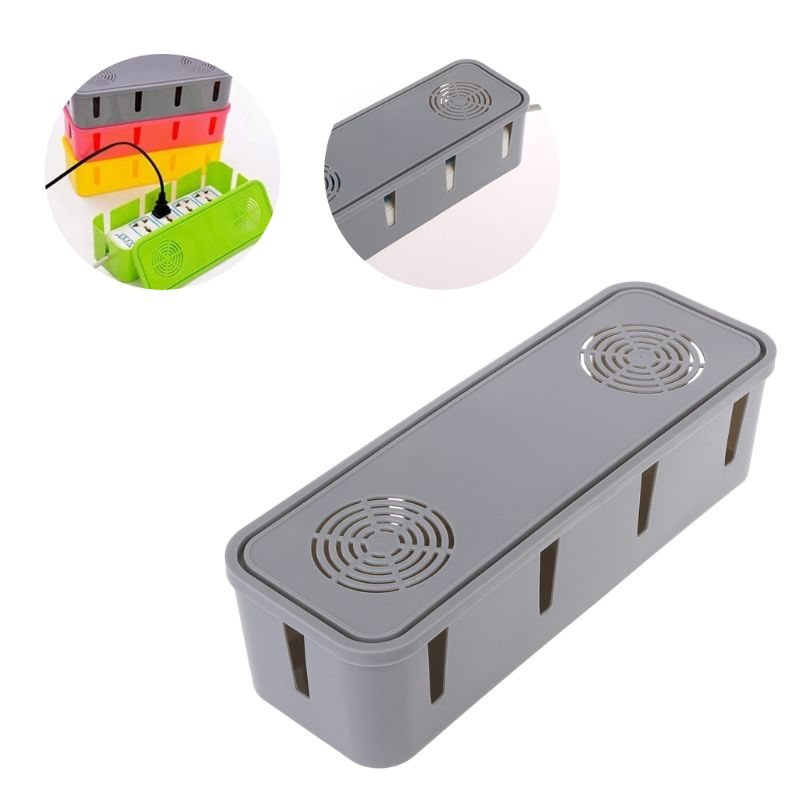Power Strip Storage Box Cable Wire Collection Socket Containers Hub Table Desktop Organizer 10 Holes Ventilation