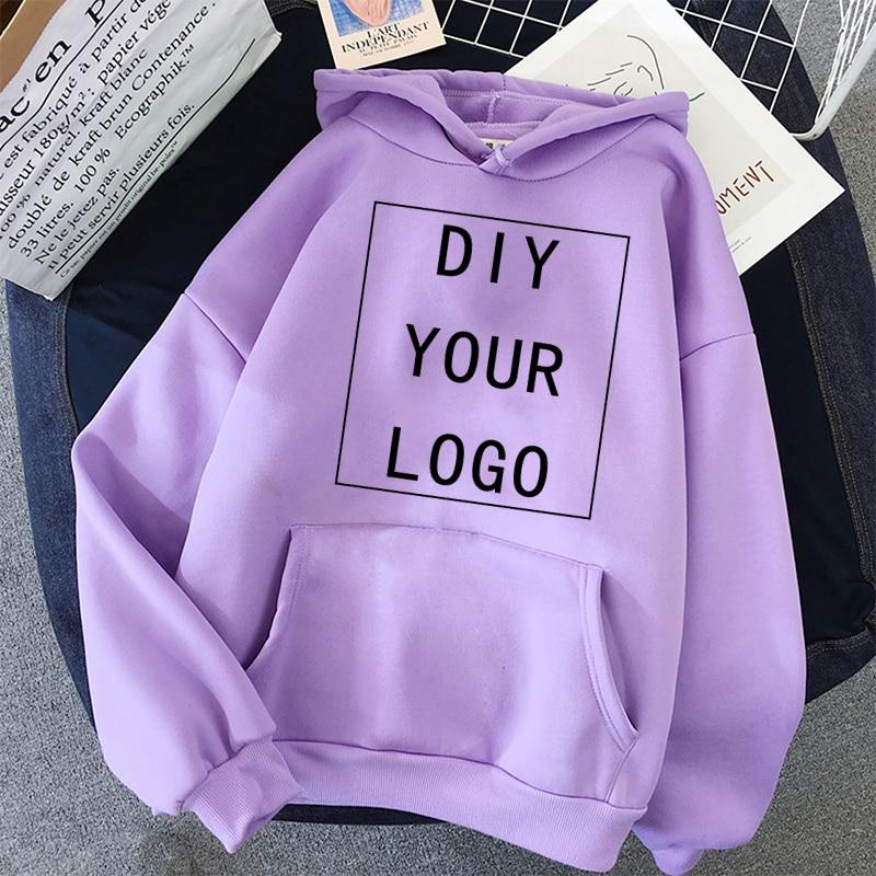 DIY IHRE LOGO hoodie nehmen customzed kein stil unisex mit kapuze student casual sweatshirt Harajuku übergroßen männer Streetwear