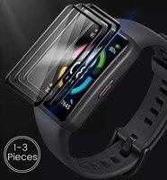 1-3Pcs vetro protettivo curvo 9d per huawei honor band 6 proteggi schermo in vetro pellicola su honer band6 accessori braccialetto intelligente