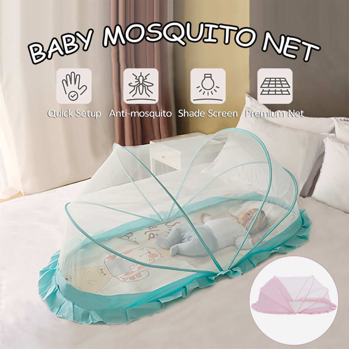 New Baby Crib Netting Portable Foldable Baby Bed Mosquito Net Polyester Newborn Sleep Bed Travel Bed Netting Play Tent Children