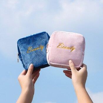 цена на New woman Sanitary Napkin Storage Bag Portable Travel Storage Key  Coin Bags Cosmetic Lipstick Pouch Zipper Small Purse