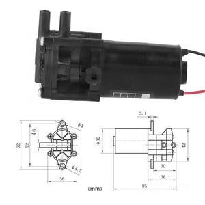 Image 2 - ZC A210 12V Mini pompa wodna z tworzywa sztucznego o wysokiej wydajności samozasysająca przekładnia DC