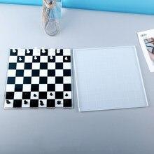 Placa de xadrez silicone fundição epóxi moldes para diy resina placa de xadrez tamanho pequeno molde uv cola epoxy artesanal artcraft jóias fazendo