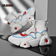 2020 Men Sock Sneakers High Top Breathable Shoes mesh Casual Shoes for Man Non-slip Comfortable Footwear Trend Zapatillas man casual shoes men s high top fashion sneakers trend comfortable outdoor non slip breathable men shoes zapatos de hombre