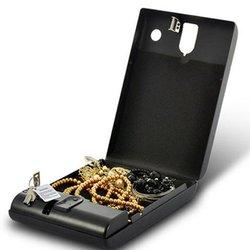 Caja fuerte de seguridad para coche portátil con contraseña, caja fuerte para dinero, caja de almacenamiento de joyas, caja fuerte de seguridad, acero laminado en frío de 1mm hoja de
