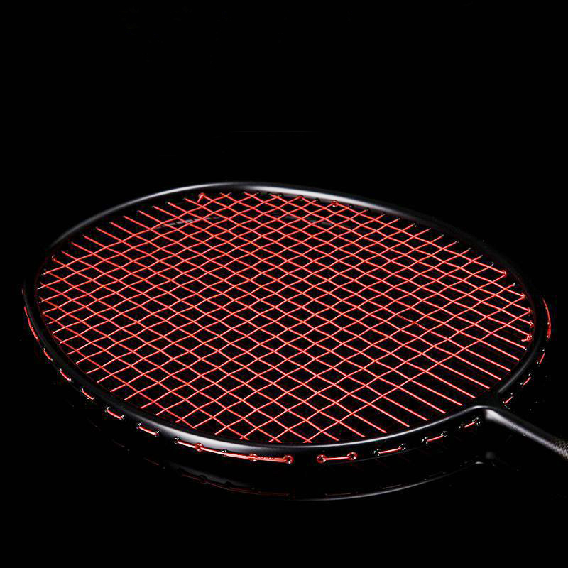 1 Piece Pure Carbon Fiber Professional Competition Badminton Rackets Super Light Weight Sports Rackets With Line 72g 82g Adult