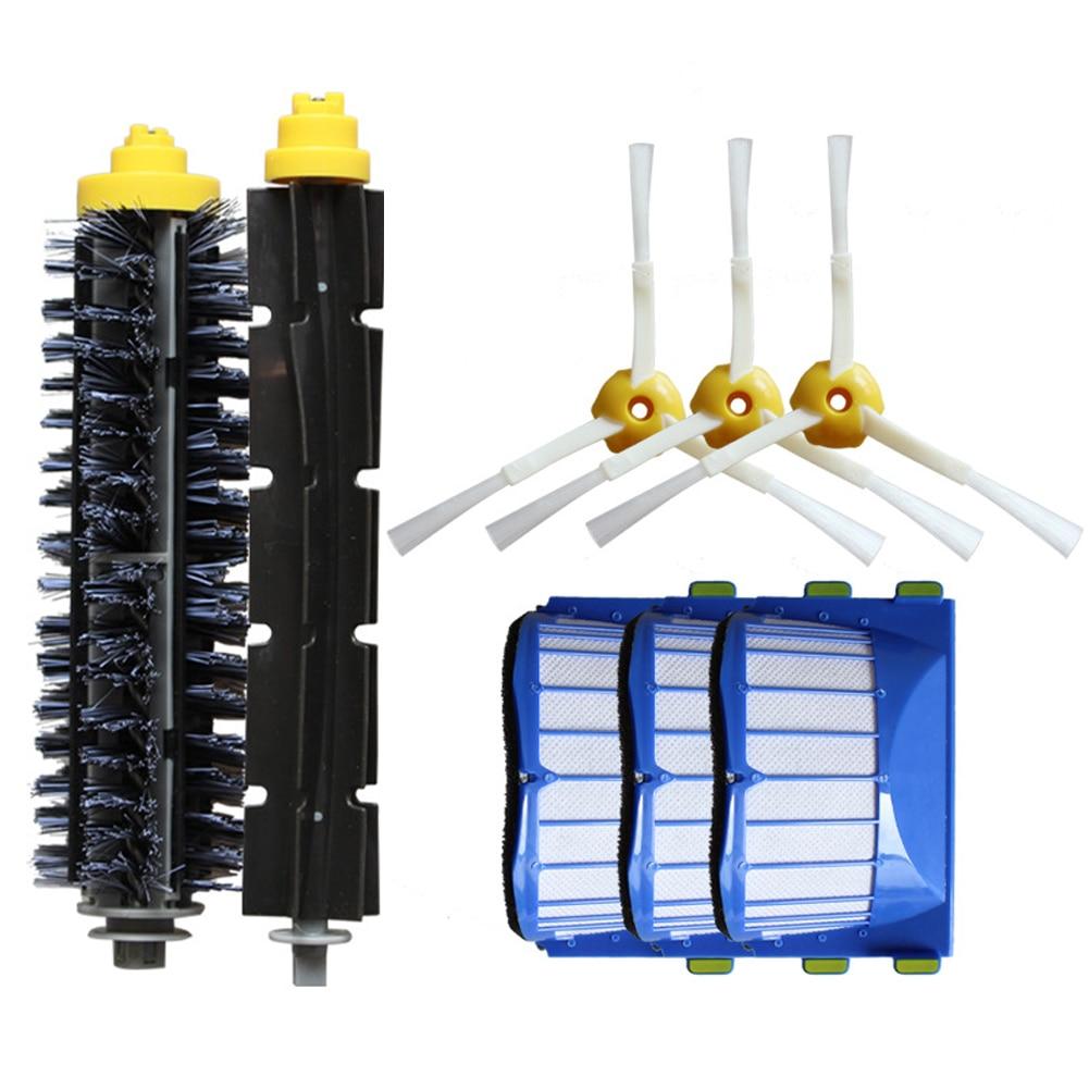 Replacement Part Kit For IRobot Roomba 600 Series 610 620 625 630 650 660 Vacuum Beater Bristle Brush+Aero Vac Filter+side Brush
