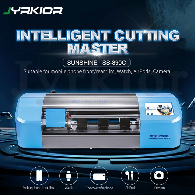Sunshine SS-890C Intelligent Auto Film Cutting Machine Mobile Phone Front Glass Back Cover Protect Film Protective Tape Cut Tool