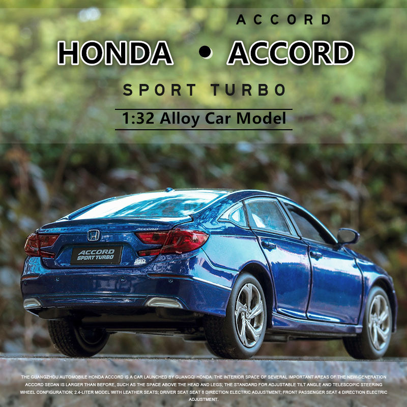 1:32 Honda Accord  Alloy Diecast Metal Car Model Miniature Collection Diecast Model  Car Suit Toys For Children Birthday Gift