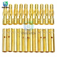 20pcs 3.5mm RC Battery Gold-plated Bullet Banana Plug Male Female Bullet Banana Connector for Brushless Motor Speed Control(China)